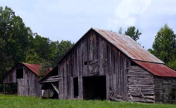 Barn Art Print featuring the photograph Old Barn by Kenna Westerman