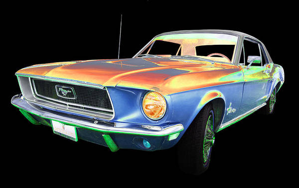 1968 Mustang Art Print featuring the photograph Ford by Allan Price