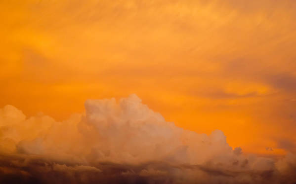 Sky Print featuring the photograph Sky Fire 001 by Tony Grider