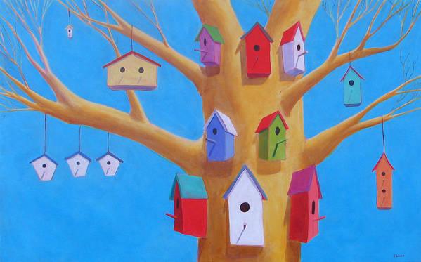 Bird House Art Print featuring the painting Off Season 4 by Scott Gordon
