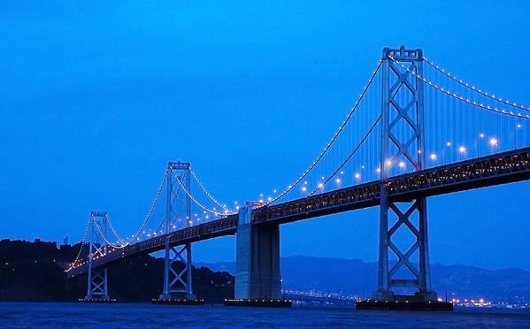San Francisco Art Print featuring the photograph San Francisco Bay Bridge by Mick Burkey