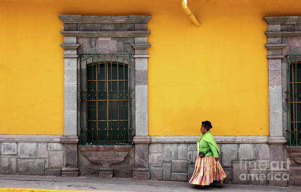 Peru Art Print featuring the photograph Colonial Puno by James Brunker