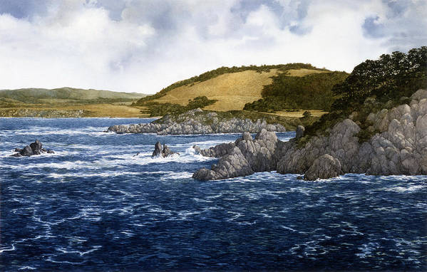 Seascape Art Print featuring the painting Gambler's Paradise by Tom Wooldridge