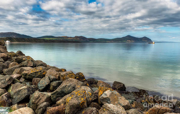 Hdr Art Print featuring the photograph Welsh Coast by Adrian Evans