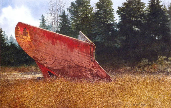 Landscape Art Print featuring the painting Road Warrior by Tom Wooldridge