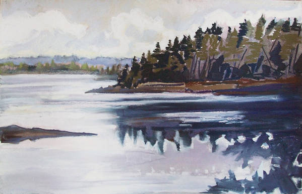 Downeast Maine Print featuring the pastel Mt. Desert Morning by Grace Keown