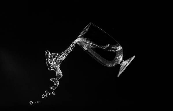 Macro Print featuring the photograph Pour Me Some Wine by Tin Lung Chao