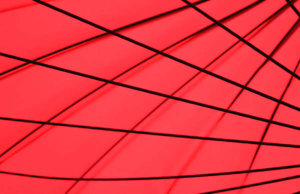 Geometrical Print featuring the photograph Red And Black Abstract by Tony Grider