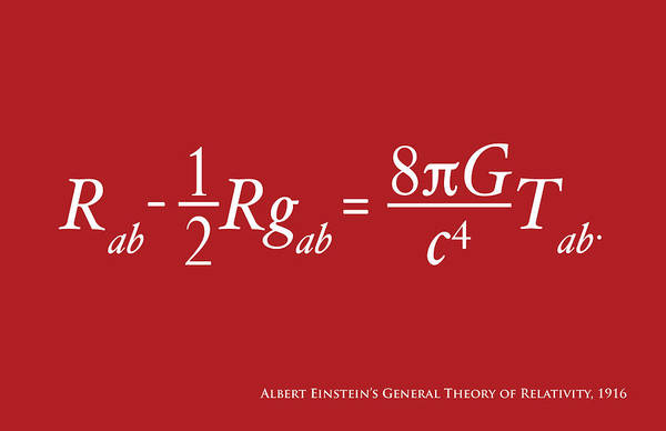 Albert Einstein Art Print featuring the digital art Einstein Theory Of Relativity by Michael Tompsett