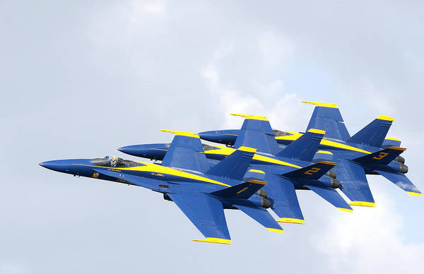 Blue Angels Art Print featuring the photograph Blue Angels by Bill Linhares