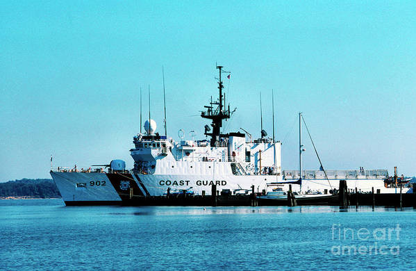 Us Coast Guard Art Print featuring the photograph Cutter Tampa by Thomas R Fletcher