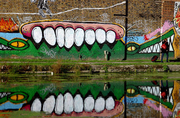 Jez C Self Art Print featuring the photograph Reflective Canal 12 by Jez C Self