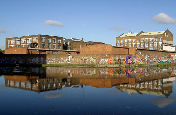 Jez C Self Art Print featuring the photograph Reflective Canal 3 by Jez C Self