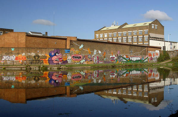 Jez C Self Art Print featuring the photograph Reflective Canal 4 by Jez C Self