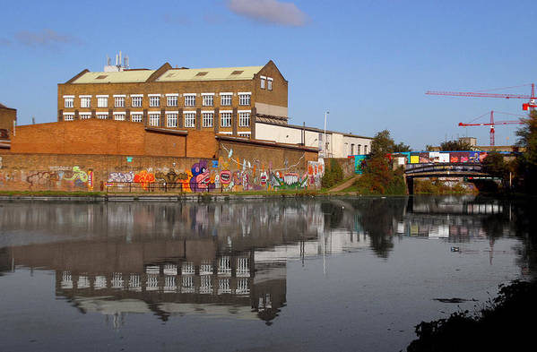 Jez C Self Art Print featuring the photograph Reflective Canal by Jez C Self