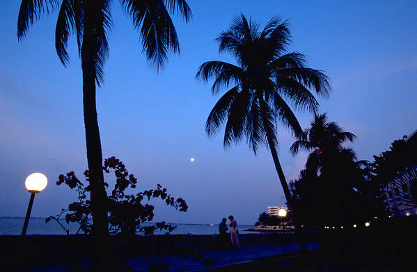 Full Moon Art Print featuring the photograph Young Lovers In Penang by Michael Mogensen