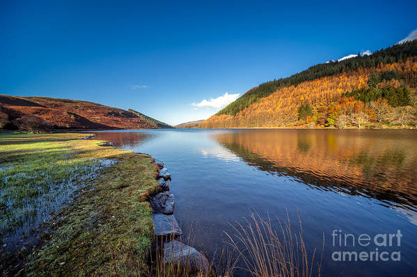 Betws Y Coed Art Print featuring the photograph Autumn Reflections by Adrian Evans