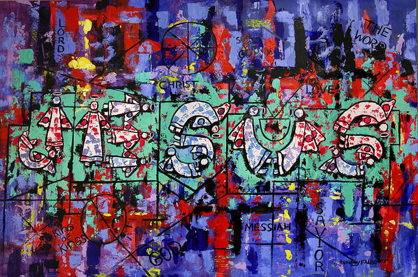 Above All Names Art Print featuring the painting Above All Names by Anthony Falbo