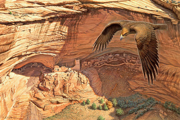 Anasazi Ancient Ones Art Print By Paul Krapf