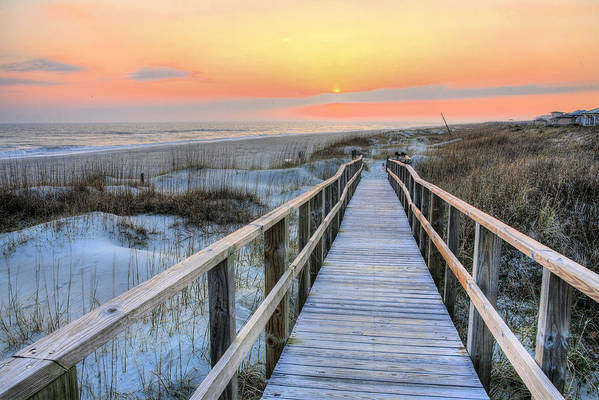 Oak Island Art Print featuring the photograph Barefoot by JC Findley