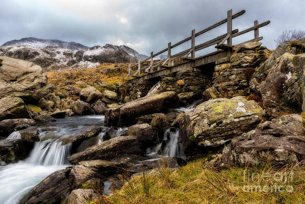 Waterfall Art Print featuring the photograph Bridge To Idwal by Adrian Evans