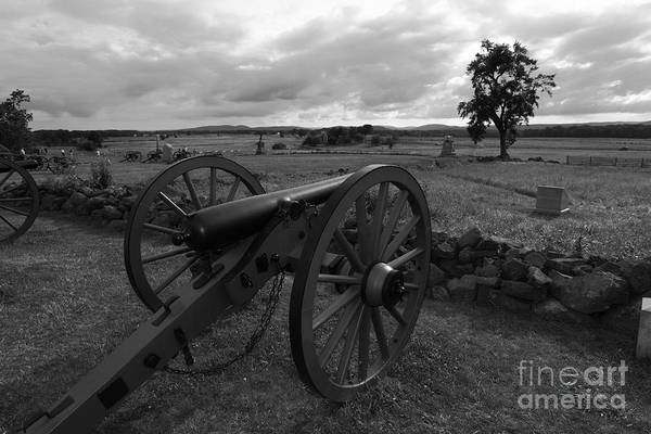 Gettysburg Art Print featuring the photograph Cemetery Ridge Gettysburg Battlefield by James Brunker