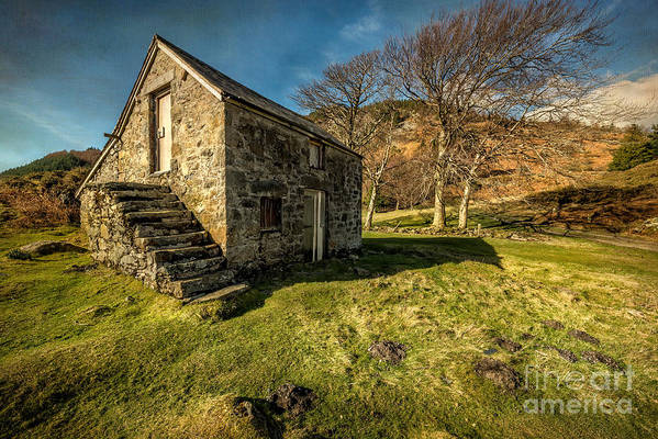 Hdr Art Print featuring the photograph Country Cottage by Adrian Evans