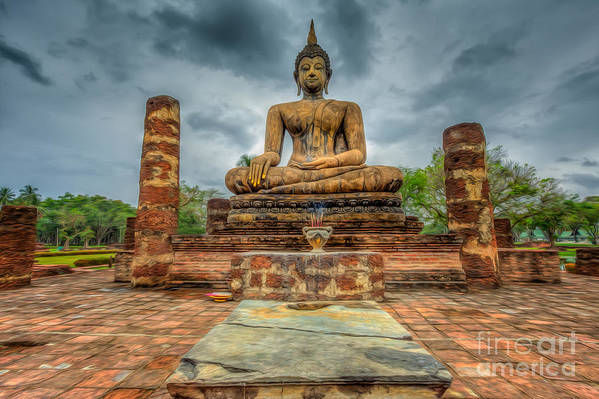 Buddha Art Print featuring the photograph Historical Park by Adrian Evans