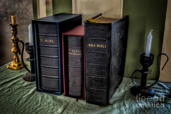 Hdr Art Print featuring the photograph Holy Bibles by Adrian Evans