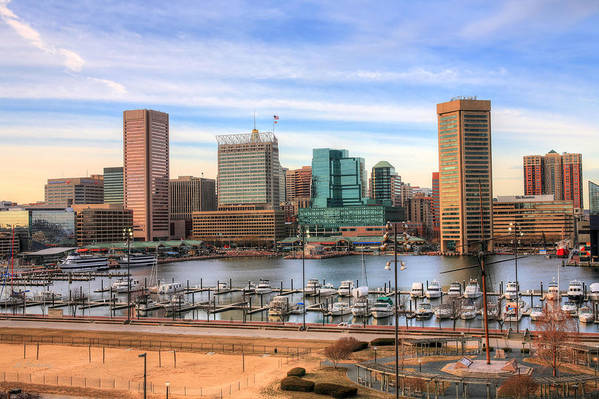 Baltimore Art Print featuring the photograph Inner Harbor by JC Findley