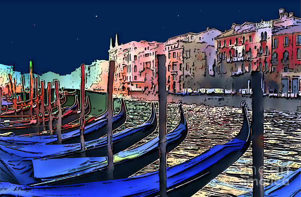 Impressionism Art Print featuring the photograph Night Falls In Venice by Linda Parker