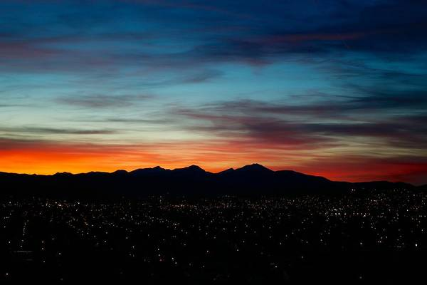 Sunset Art Print featuring the photograph Pintler Sunset by Kevin Bone