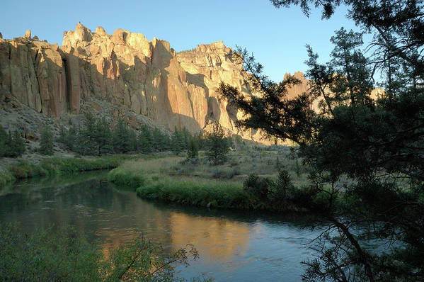 Crooked River Art Print featuring the photograph River Rocks by Arthur Fix