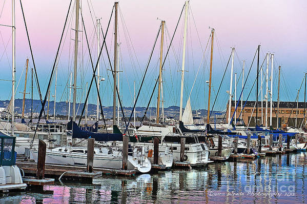 San Francisco Harbor At Pier 39 Art Print featuring the photograph San Francisco Harbor At Pier 39 by Artist and Photographer Laura Wrede
