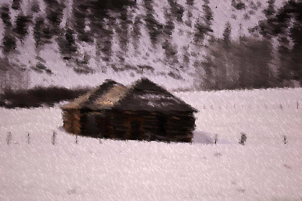 Landscape Art Print featuring the photograph Snowed In by Kevin Bone