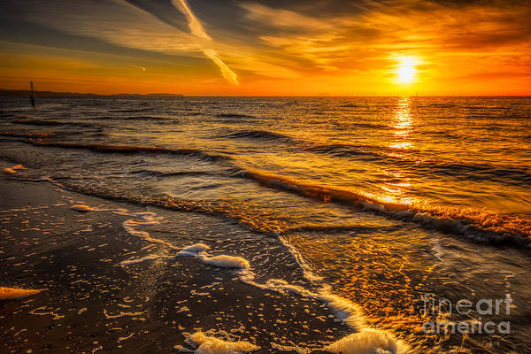 Bay Art Print featuring the photograph Sunset Seascape by Adrian Evans