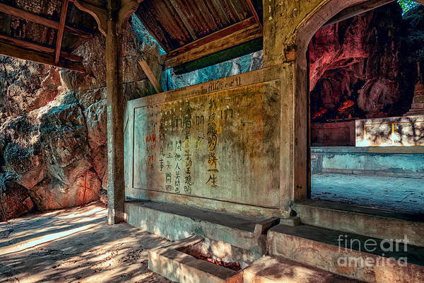 Hdr Print featuring the photograph Temple Cave by Adrian Evans