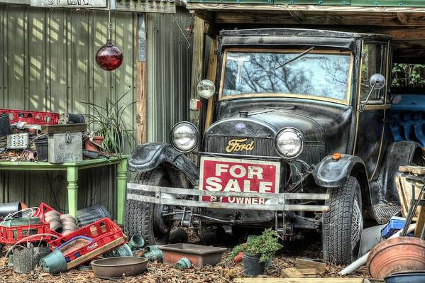 The Garage Sale Print featuring the photograph The Garage Sale by JC Findley