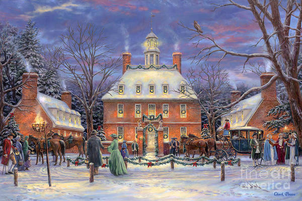 Williamsburg Art Print featuring the painting The Governor's Party by Chuck Pinson