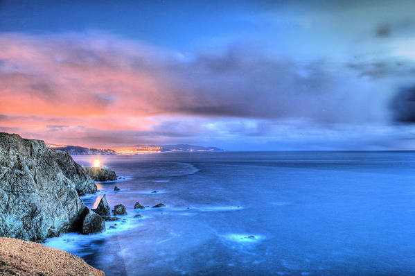 Bonita Point Art Print featuring the photograph The Lighthouse by JC Findley
