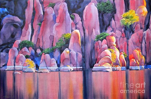 Watercolor Art Print featuring the painting The Secret Cove by Robert Hooper