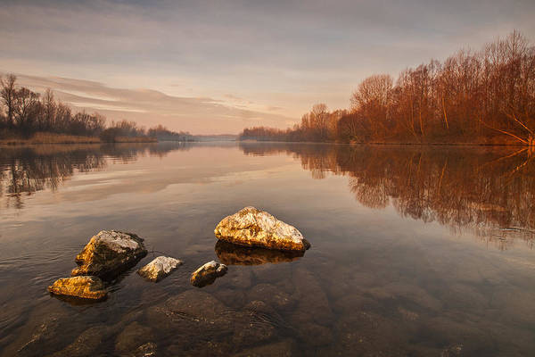 Landscape Print featuring the photograph Tranquility by Davorin Mance