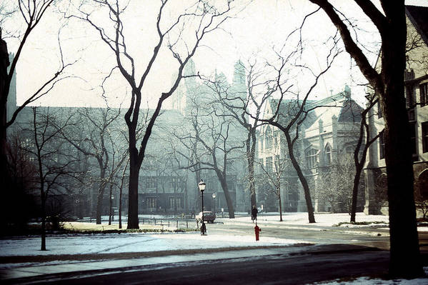 University Of Chicago Print featuring the photograph University Of Chicago 1976 by Joseph Duba