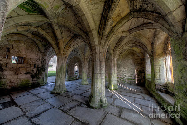 Abbey Art Print featuring the photograph Valle Crucis Chapter House by Adrian Evans