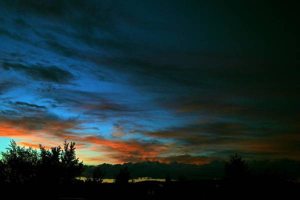Sunset Art Print featuring the photograph Black And Blue by Kevin Bone