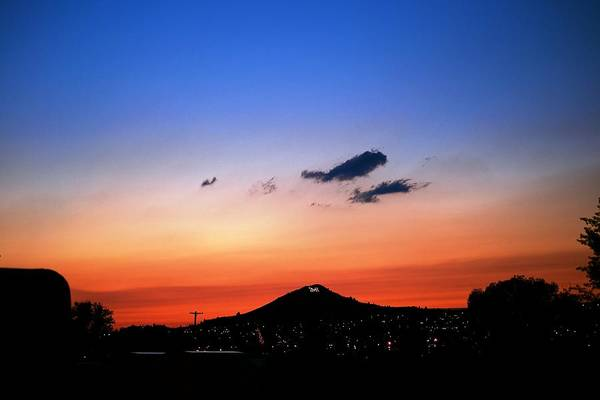 Sunset Print featuring the photograph Butte Montana Sunset by Kevin Bone