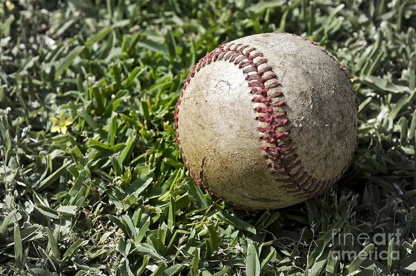 Baseball Print featuring the photograph Cure For Spring Fever by Gwyn Newcombe