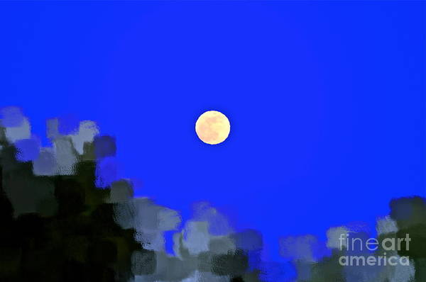 Moon Art Print featuring the photograph Distortion by Gwyn Newcombe