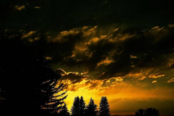 Sunset Art Print featuring the photograph Eerie Evening by Kevin Bone