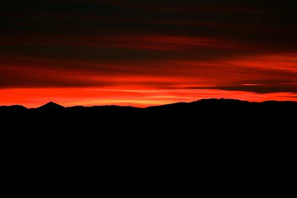Sunset Art Print featuring the photograph Night On Fire by Kevin Bone